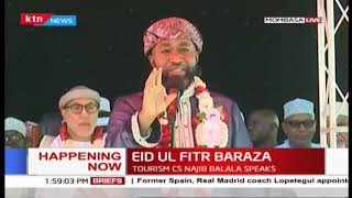 Governor Joho\'s speech during Eid ul-Fitr Baraza in Mombasa
