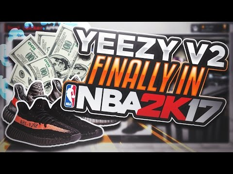 YEEZY V2 FINALLY IN NBA 2K17! • HOW TO GET YEEZYS IN MYPARK