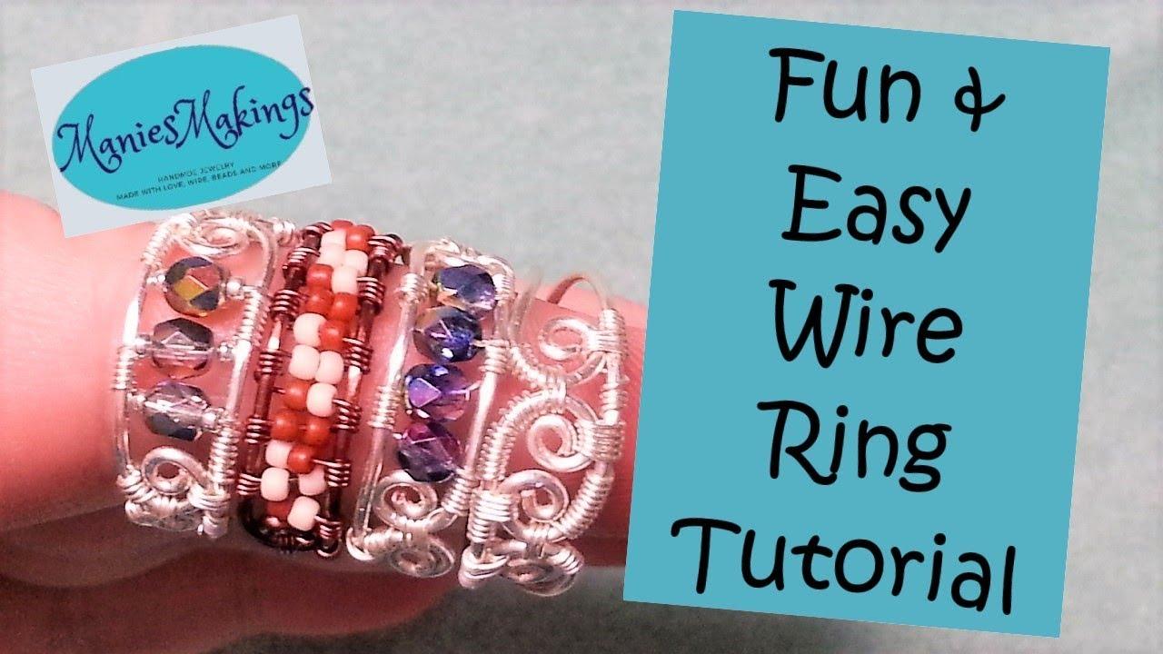 Fun  U0026 Easy Wire Ring Tutorial