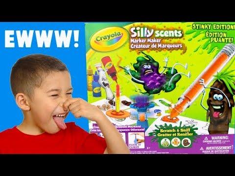 Making STINKY Crayola Markers! Stinky Scents Marker Maker!