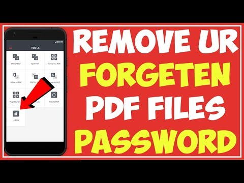 I Love PDF   How To Unlock Your Forgotten Pdf Files Password  