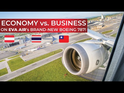 VLOG | EVA Air's FIRST EVER Boeing 787-9 long-haul flight in ECONOMY and BUSINESS CLASS!