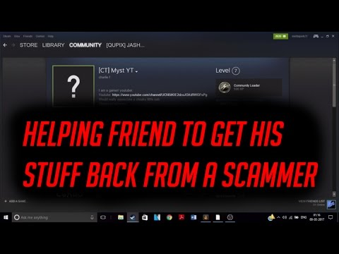 Rocket league- Helping Friend Get Back His Stuff From Scammer