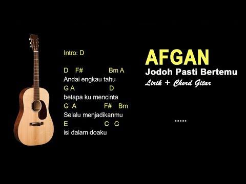 Afgan - Jodoh Pasti Bertemu Chord Gitar