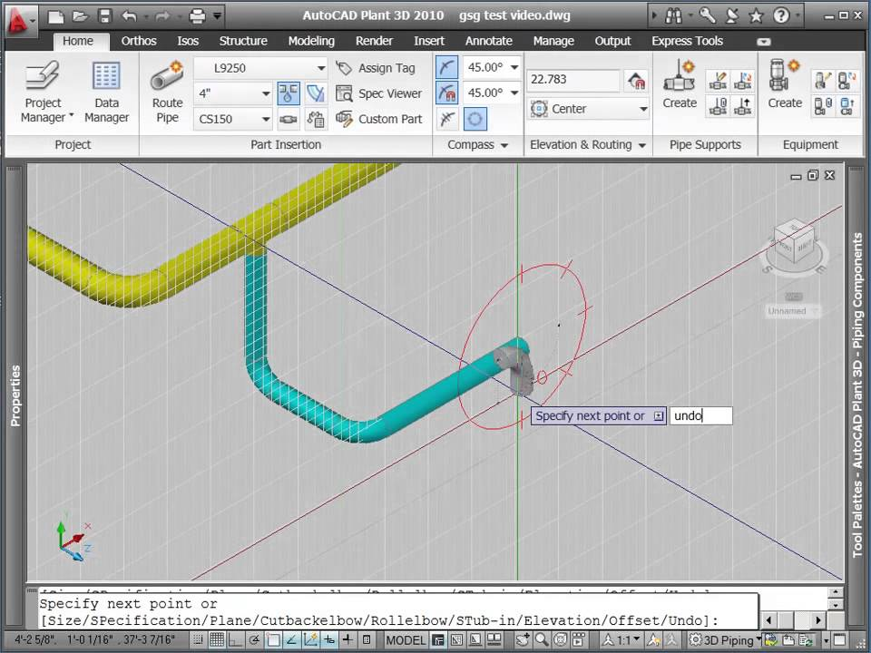 Autodesk autocad p id routing pipe with autocad plant 3d for Plante 3d dwg