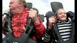 dad pukes all over daughter on roller coaster