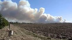 MASSIVE GRASS FIRE SOUTH OF OUR HOBBY FARM PARK RAPIDS, MINNESOTA