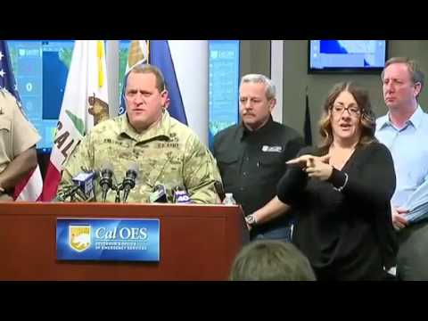 Current news OROVILLE DAM CRISES!!! California Office of Emergency gives an update on the Oroville D