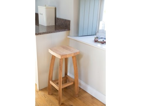 Bali Standard Solid American Oak Bar Stool