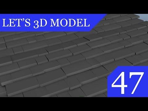 Let's 3D Model #47 - Creating Tiling Roof Texture in MAYA PT.2