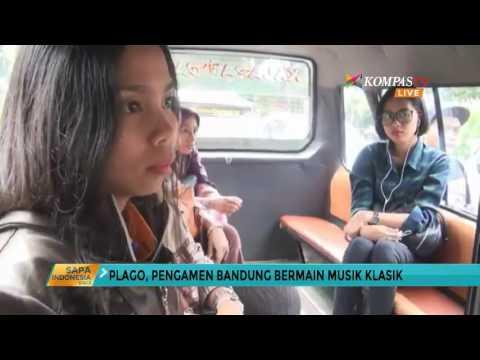 Aksi Pengamen Bandung Bermain Musik Klasik