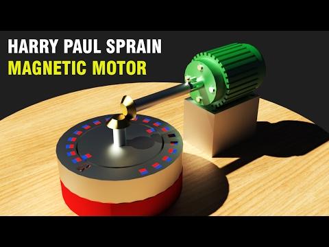 Free Energy Generator, Harry Paul Sprain Magnetic Motor!!!!!