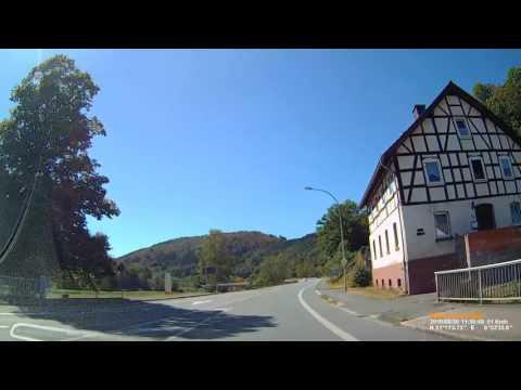 D: Herzhausen. Gemeinde Vöhl. Landkreis Waldeck-Frankenberg. Ortsdurchfahrt. August 2016