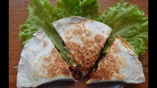 Мексиканская кухня: Грибная Кесадилья / quesadillas