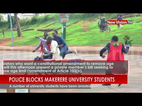 Age Limit Removal: Police blocks Makerere university students