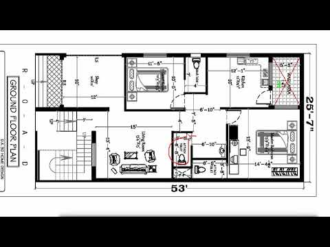 SHOP ATTATCHED 2 BHK HOUSE PLAN