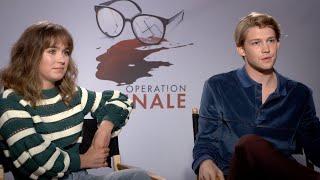 Haley Lu Richardson & Joe Alwyn speak about their surreal dynamic in Operation Finale