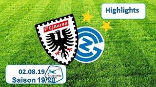 Highlights: Fc Aarau vs Grasshopper Club Zürich (02.08.19)