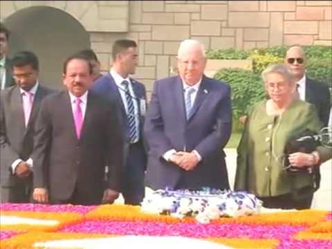 Israel president pays tribute to Mahatma Gandhi in New Delhi