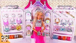 디즈니 공주 악세사리샵 가게놀이 ! 공주 화장 인형놀이 드라마 장난감 놀이 Princess Barbie Doll Jewelry Accessories Dress up | 보라미TV