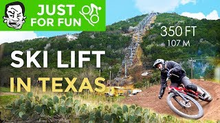 Tiny Ski Lift in Texas is not such a bad idea | Spider Mountain Bike Park