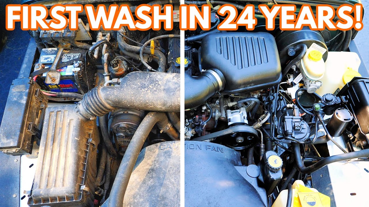Detailing A 24 Year Old Engine Bay For the First Time! How To Clean Your Engine BAY & Restore It!