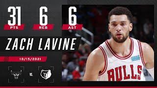 Zach LaVine goes for 31-6-6 in Bulls' win vs. Grizzlies