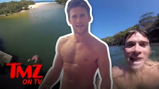 Repeat youtube video Scott Eastwood Goes Cliff Jumping Illegally | TMZ TV