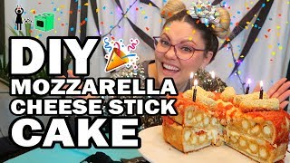 🎂 Mozzarella Stick Birthday Cake, Corinne VS Cooking