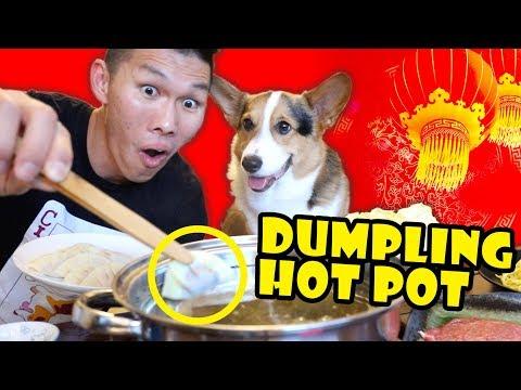 Dumpling Hot Pot for Lunar New Year w/ Corgi || Life After College: Ep. 626