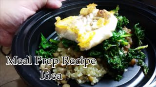 Meal Prep Idea (Fish, Lentil Quinoa Salad w Kale)