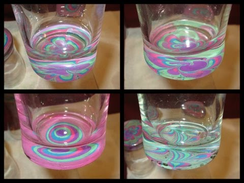 crafting-with-nail-polish--juice-glass-water-marble