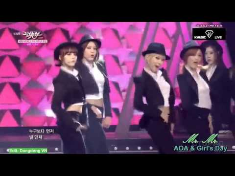 [Special Stage] AOA Cover Gentleman (with Teen Top) And Mr.Mr (with G's Day)
