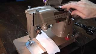Singer 328K Threading Bobbin Winding Fashion Disc Cam Zig Zag Stitch Width Length