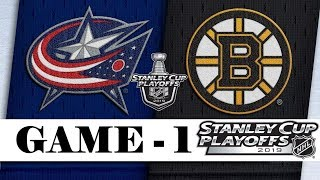 Columbus Blue Jackets Vs Boston Bruins  Second Round  Game 1  Stanley Cup 2019  Обзор матча