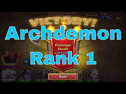 Castle Clash Archdemon: Rank 1 (10.3 Billion Damage)