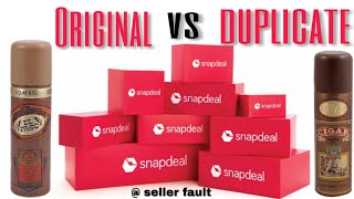 ORIGINAL VS DUPLICATE FROM SnapDeal SALE EL PASO DEO AND CIGAR DEO