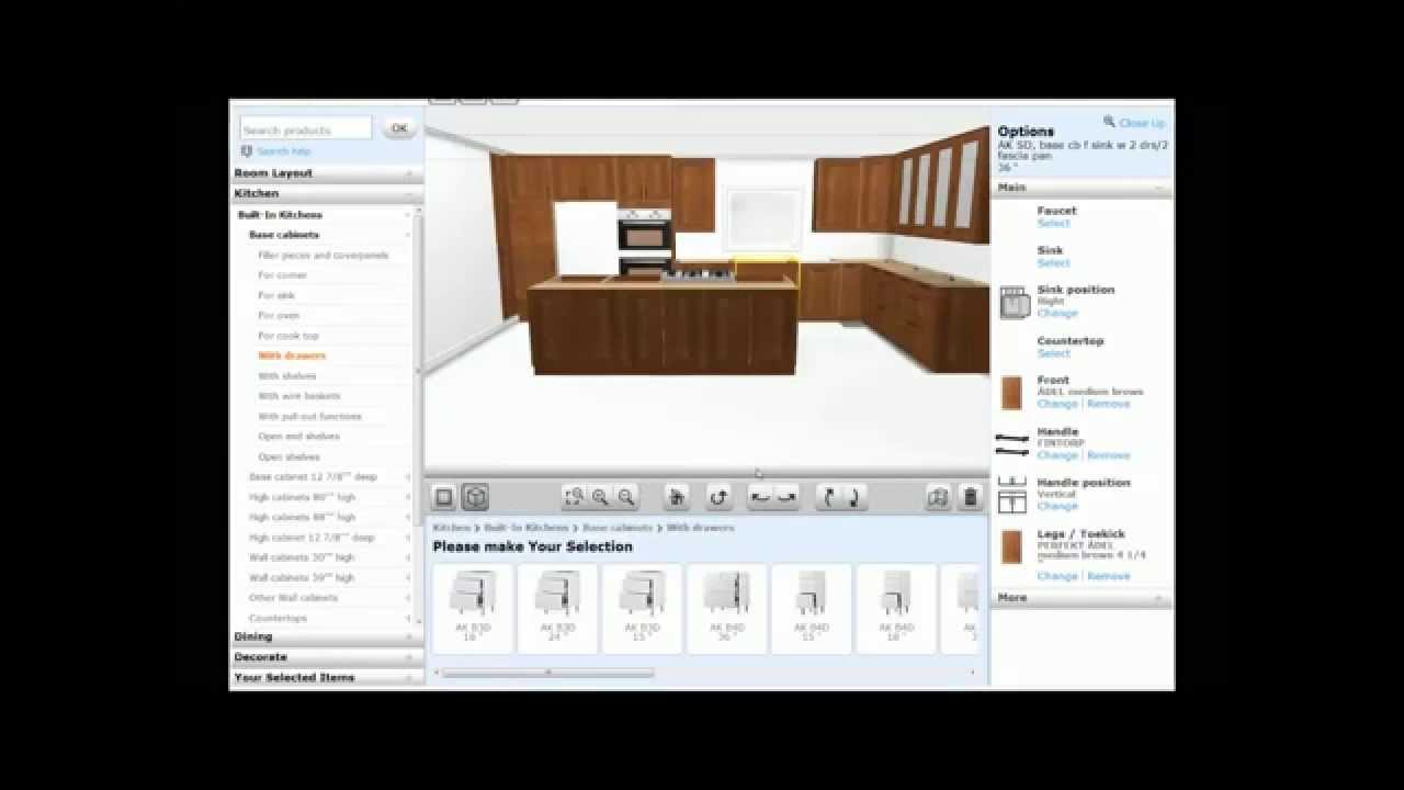 Ikea 3d Kitchen Planner Tutorial 2013 Youtube