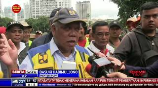 Menteri PUPR Tinjau Banjir di Underpass Kemayoran