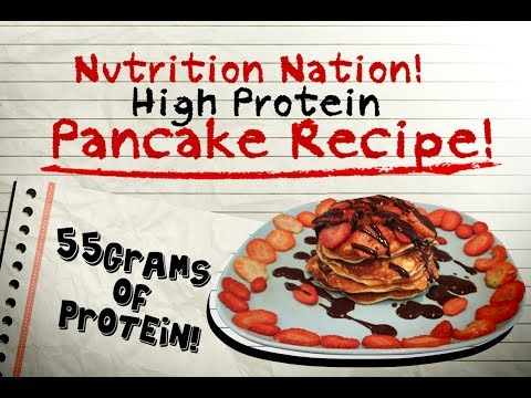 High Protein Pancake Recipe! 55 Grams Of Protein!