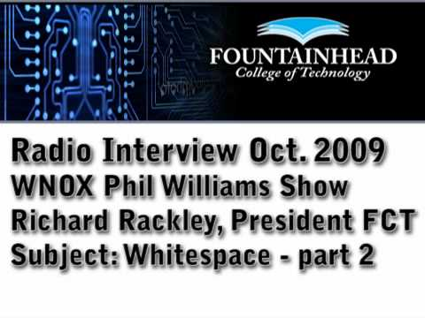 Whitespace 2 of 2 - Fountainhead College of Technology WNOX Radio Interview