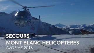 Mountain Ski Rescue - Mont Blanc Helicopteres 2016