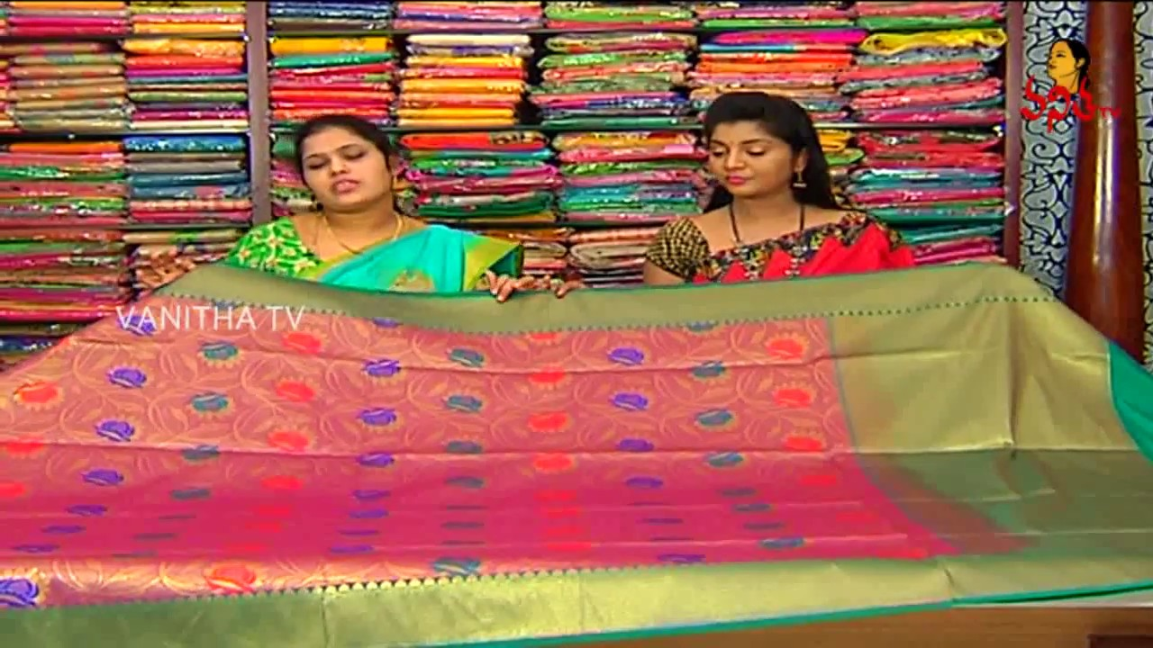 ada24c9801 Rich Look Banarasi Pattu Saree || New Arrivals || Vanitha TV - YouTube