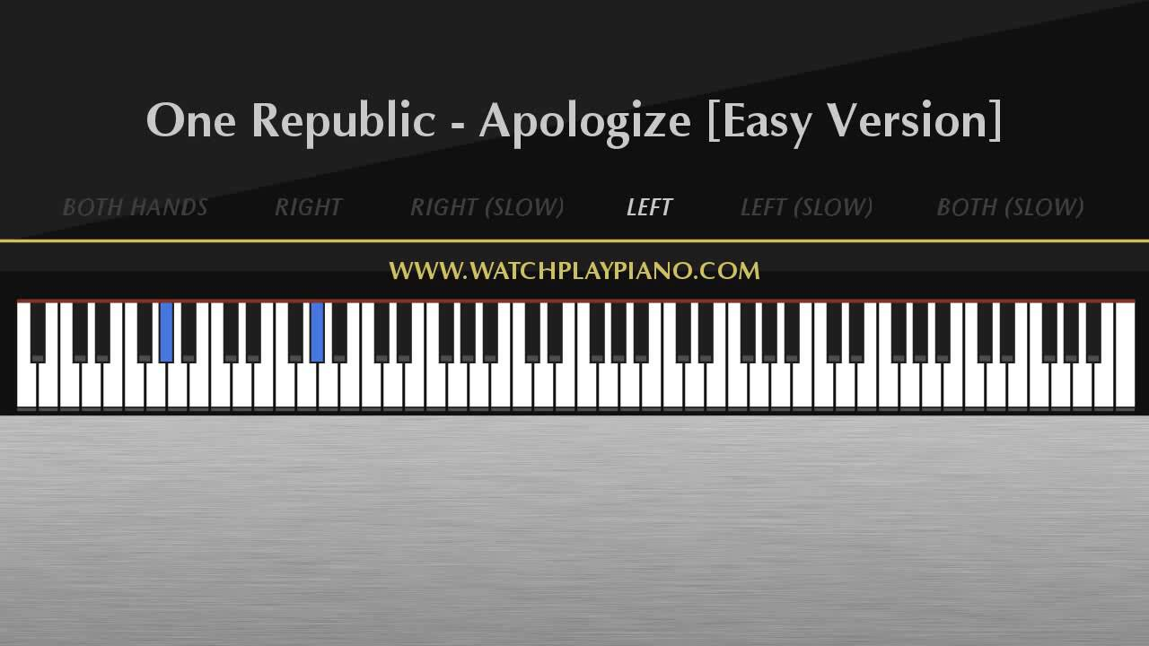 One republic apologize easy piano tutorial youtube one republic apologize easy piano tutorial hexwebz Choice Image