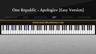 One Republic - Apologize [Easy Piano Tutorial]