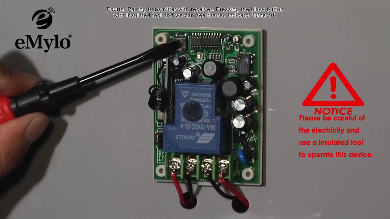 Schema Elettrico Emylo : Emylo ac v ch w mhz remote control switch wireless