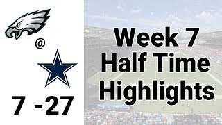 Eagles vs Cowboys Half Time Highlights | NFL 2019