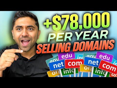 How I Make $70,000 PER YEAR Selling Domain Names?