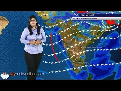 21 July, 2015 Monsoon Updates - Skymet Weather