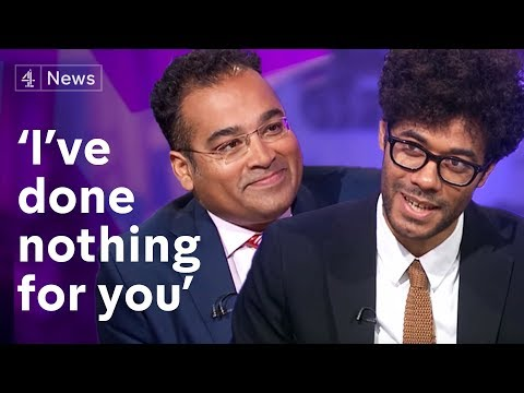 Who's interviewing who?! Richard Ayoade speaks to Krishnan Guru-Murthy